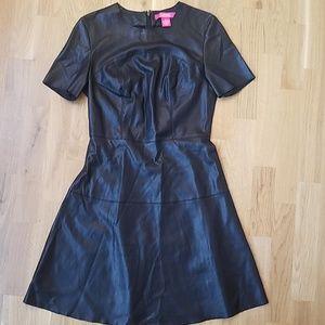 Catherine Malandrino Allover Faux Leather Dress